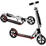 Vokul® VK-205 Portable Folding Adult Matte Black Bull Wheel Kick Scooter