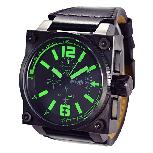[ウェルダー]WELDER 腕時計 クオーツ クロノグラフ デイトカレンダー ブラック×ブラックラバー K23-1710  【並行輸入品】