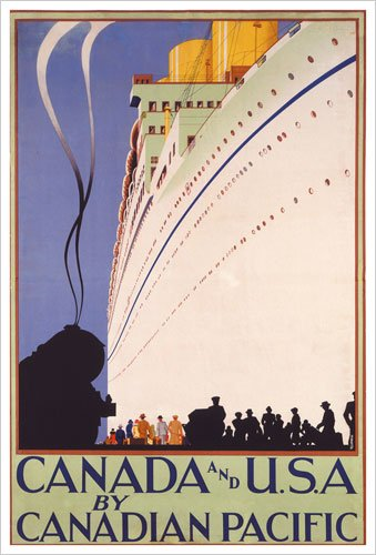 Canada and U.S.A. by Canadian Pacific (Canadian Pacific) Vintage Art Poster Print