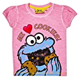 Sesame Street Cookie Monster 'Heart Cookies' Girl's T-Shirt