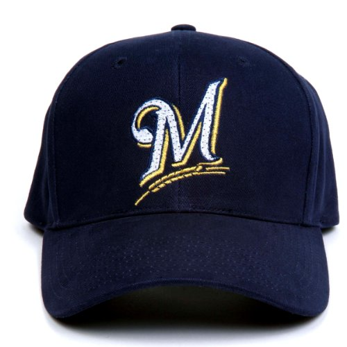 Mlb Milwaukee Brewers Led Light-Up Logo Adjustable Hat