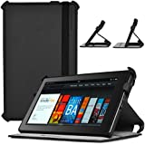 CaseCrown Ace Flip Case Cover (Black Smoke) with Elastic Band Closure for Amazon Kindle Fire