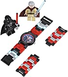 "LEGO Kids' ""9001192"" Star Wars Darth Vader vs. Obi-Wan Kenobi Multicolor-Plastic Bracelet Watch With Two Minifigures"