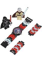LEGO Kids' 9001192 Star Wars Darth Vader vs. Obi-Wan Kenobi Multicolor-Plastic Bracelet Watch With Two Minifigures