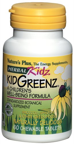 Nature's Plus - Kid Greenz Tropical Fruit, 60 chewable tablets