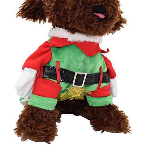Forepin®Vestiti Caldo Felpa Gilet Giacca Cappuccio Cappotto per dell'animale domestico Cane Abbigliamento di Natale (con Corpetto S)