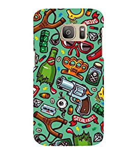 Crazy pattern Back Case Cover for Samsung Galaxy S7