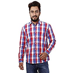 Gustrow Men's Casual Shirt (GUS108-008_Red_42)