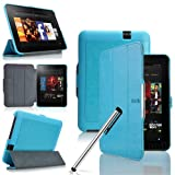 Eallc Ultra Slim Tri-fold Folio Leather Stand Case Cover For Previous Generation Amazon Kindle Fire HD 7 7