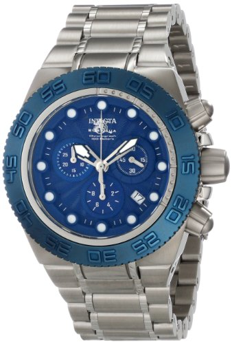 Invicta Men's 10858 Subaqua Chronograph Blue Textured Dial Stainless Steel Watch