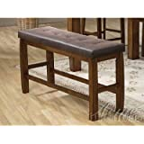 Morrison Counter Height Storage Bench in Ash Oak Finish