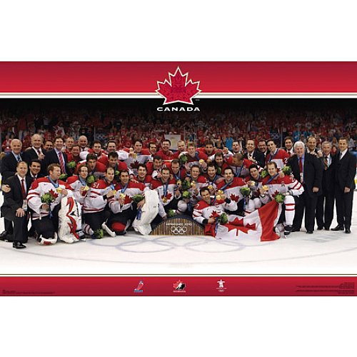 Frameworth Team Canada 2010 Iihf Olympics Gold Medal 16X20 Plaque