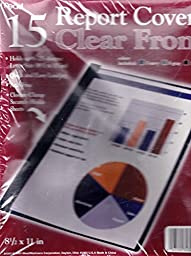 15 Report Covers Clear Front