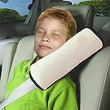 Vine Seguridad infantil cinturon Asiento de coche cinturón hombro cojín reposacabezas almohada para dormir para niños almohada cervical?Beige?