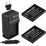 Newmowa Li-50B Battery (2-Pack) and Charger kit for Olympus LI-50B and Olympus SZ-10 SZ-12 SZ-15 SZ-16 iHS Sz-20 SZ-30MR SZ31MR iHS TG-610 TG-630 HIS TG-810 TG-820 TG-830 HIS XZ-1 XZ-16 iHS SP-810UZ Stylus Tough TG-860 Digital Camera + More!!