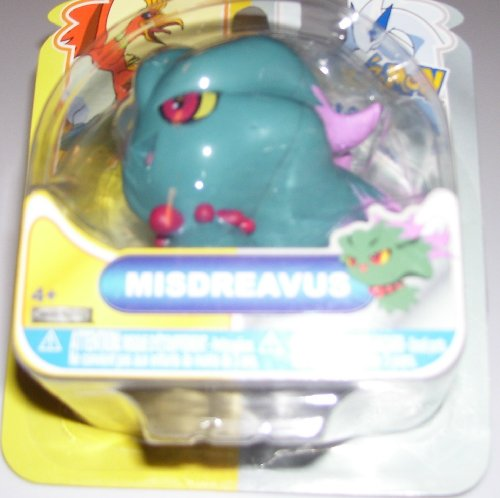 Buy Low Price Jakks Pacific Pokemon Heartgold & Soulsilver Johto Basic Action Figure Misdreavus (B004GZF1CC)
