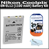 518BU6lboTL. SL160  Battery Kit For Nikon Coolpix S800c S1200pj S1000pj S1100pj Digital Camera Includes Extended Replacement For Nikon EN EL12 (1100 mAH) Lithium Ion Battery +More AW110 S9300 S6300 S6200 S8200 AW100 S8100 S8000 S6000 S6100 S9100 P300 P310 S610 S620 S630 P330