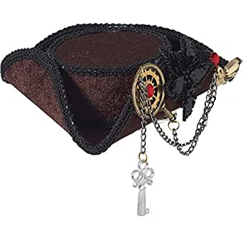 Forum Novelties Women's Mini Steampunk Pirate Hat