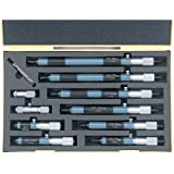 Mitutoyo 133-902 Tubular Vernier Inside Micrometer, 50-300mm Range, 0.01mm Graduation, +/-0.006mm Accuracy (10 Piece Set)
