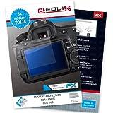 atFoliX Displayschutzfolie Canon EOS 60D Schutzfolie - 3er Set - FX-Clear kristallklar