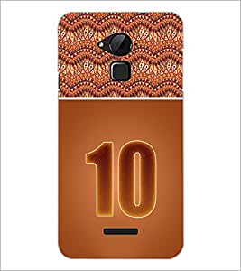 PrintDhaba Numerology Number 10 D-3643 Back Case Cover for COOLPAD NOTE 3 LITE (Multi-Coloured)