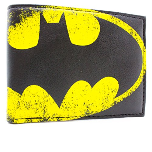 DC Comics Batman Yellow Bat segnale Nero portafoglio