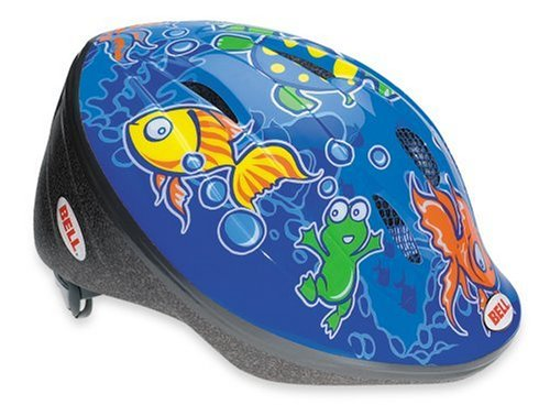 Bell Kinder Fahrradhelm Kids BELLINO 10, Blue Fish, M/L (52-56cm), 210021002