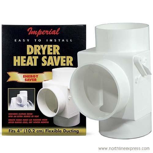 "4"" White Dryer Vent Heat Saver"