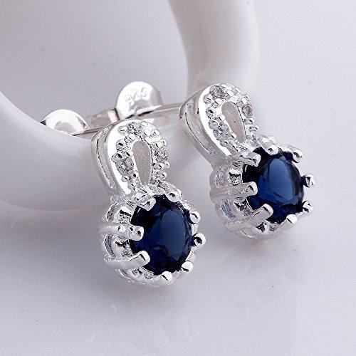 Womens Silver Crystal Rhinestone Teardrop Pear Shaped Dangle Earrings Tipped