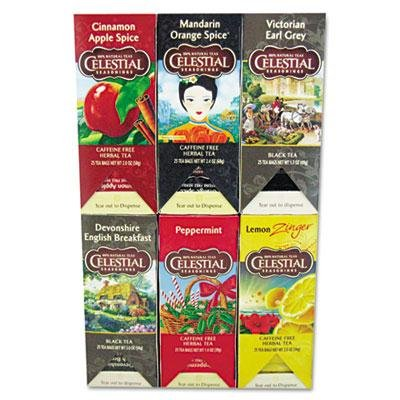 Celestial Seasonings - Tea Six Assorted Flavors 25 Bags/Box
