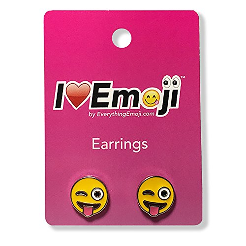 Everything-Emoji-Tongue-Wink-Face-Silver-Stud-Earrings-Cute-Emoticon-Jewelry-Set-Quality-Gifts-Accessories