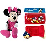 "Gift Special - Disney Minnie Mouse 18"" Plush Christmas Birthday Gift With Mickey & Minnie Tri-fold Wallet Gift..."