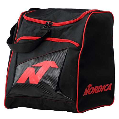 Nordica Unisex 0 N3014 - 741 scarponi da sci Custodia Boot Bag Black/Red, nero, taglia unica