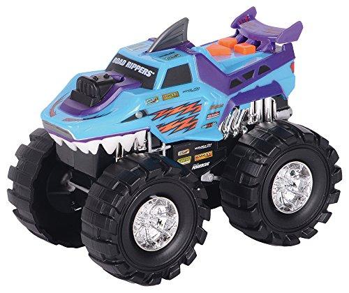 Happy People 35931 - Toy State, Macchinina con luci e suoni Monster Truck 4 x 4, Road Rippers, motivo carrozzeria: Squalo