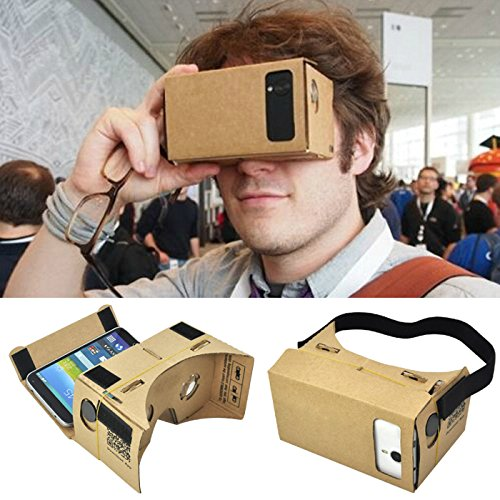 Gotobuy Cardboard 3D VR Virtual Reality Glasses For Google Android Iphone 5.5″
