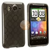 TPU Rubber Skin Case for HTC Desire HD, Clear Frost Smoke Circle