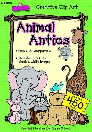 Quality value Animal Antics Clip Art Cd By Carson Dellosa