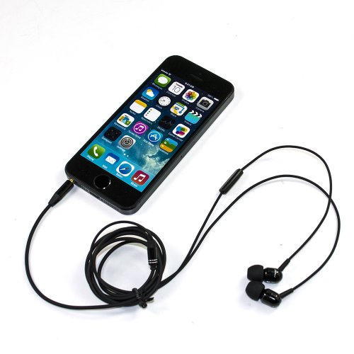 Iclover Jbm In-Ear Earbuds Earphones Stereo Mega Bass Headset With Mic For Cellphone Iphone Ipod Samsung Htc Mp3 (Black)