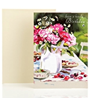 Watercolour Floral Friend Birthday Card
