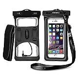 Vansky スマホ フロート防水ケース アームバンド イヤホンプラグ付き iPhone6S/6S Plus/6 Samsung GalaxyS6など対応 (ブラック)