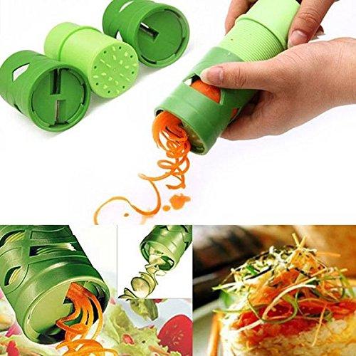 mark8shop Multifunktions Gemüse Früchte, Gurken Drehen Cutter Schneide Gemüse Verarbeitung Gerät