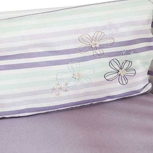 Finn + Emma 4-Pc Bumper Set - Purple Flower