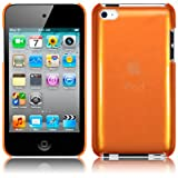 Orange Super Slim Xylo-Back Cover / Skin / Case for the Apple iPod Touch 4 4G (8GB 16GB 32GB 64GB).