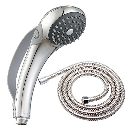 Deliao Handheld Shower Head Set With 79-Inch Shower Hose Home Care 2 Settings Hand Shower kit Control Button And Convenient Push Button Pause Control Kids Senior Elderly Aged Or Pets Showerhead (Drive Handheld Shower Head compare prices)