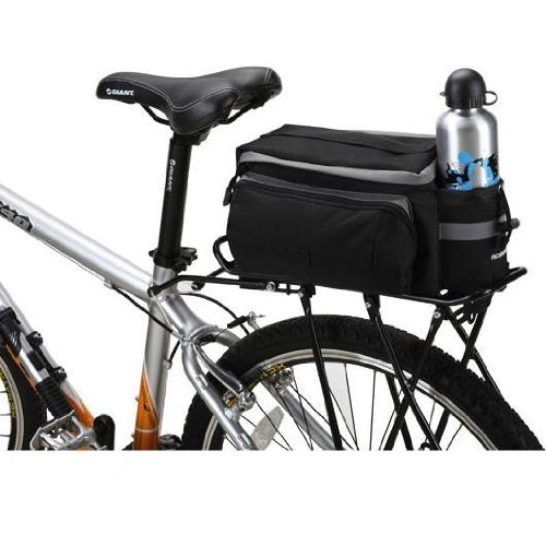 Bicycle Roswheel Rear Seat Trunk Bag Handbag Bag Pannier Black