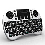 Rii i8+ 2.4G Wireless Mini Keyboard for Android Smart TV, TV Box, HTPC, PC with Multi-touch up to 15 Meter (White)