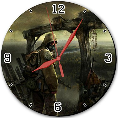 """Cool Guy Gas Mask War Art Punktail'S Collections 10"""" Quartz Plastic Wall Round Clock Customized Made To Order"""