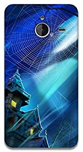 The Racoon Lean haunted house hard plastic printed back case / cover for Microsoft Lumia 640 XL
