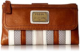 Fossil Emory Wallet, Grey/White, One Size