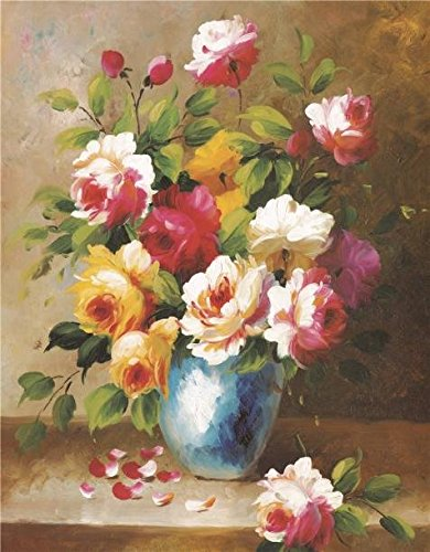 Oil Painting 'Flowers' Printing On High Quality Polyster Canvas , 20x26 Inch / 51x65 Cm ,the Best Gym Decoration And Home Decor And Gifts Is This Cheap But High Quality Art Decorative Art Decorative Canvas Prints